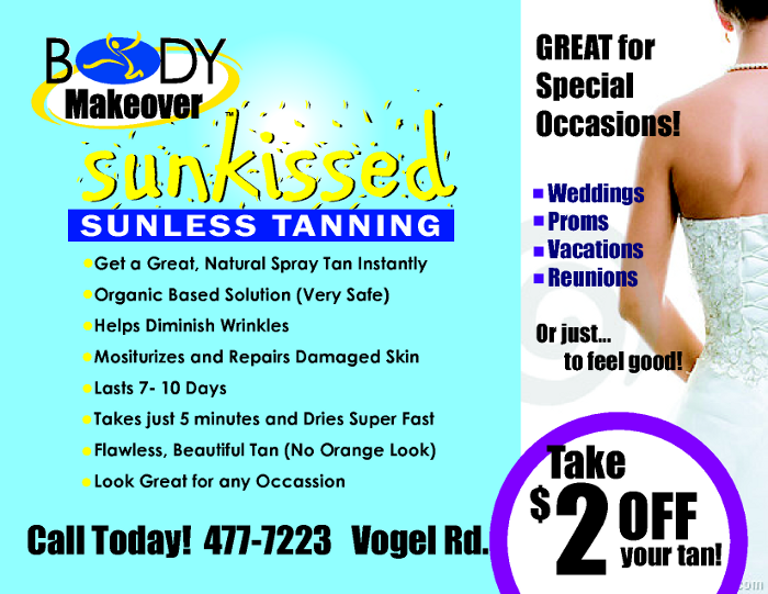 Take Two Dollars Off Your Next Spray Tan